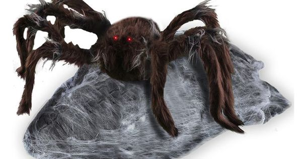 The animated jumping spider decoration is one of the for Animated spider halloween decoration
