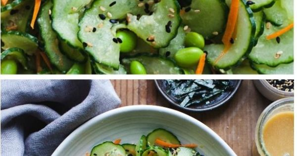 Sesame Ginger Miso Cucumber Salad | Recipe | Cucumber salad