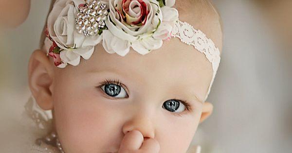 Baby Headband, flower headband,baby headbands, shabby chic roses headband, baby girl headband,
