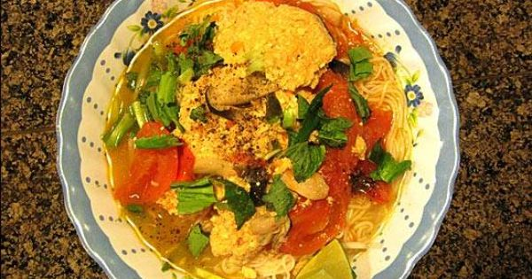 Bún riêu chay | Vietnamese Recipes - Noodles and Soup | Pinterest