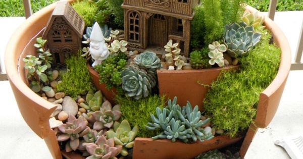 Mini Gardens in Pots   ... clay pot mini garden in mini