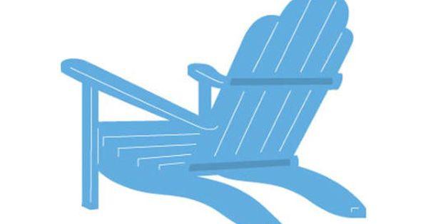 marianne design creatables cutting die adirondack chair lr0424