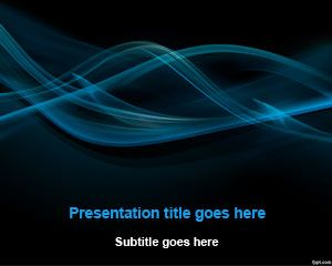 New Black Smoke Abstract Powerpoint Template Free