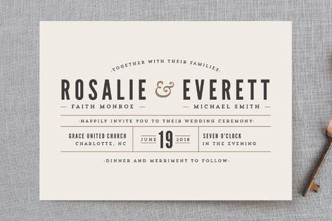 Classic Type Fun Wedding Invitations Wedding Invitations Cheap