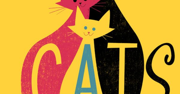 Cats poster by Jamey Christoph. Use of negative space