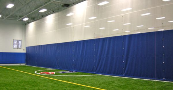 Motorized Fold Up Divider Curtain For Indoor Sports Field Indoor Sports Indoor Soccer Field Indoor Tennis
