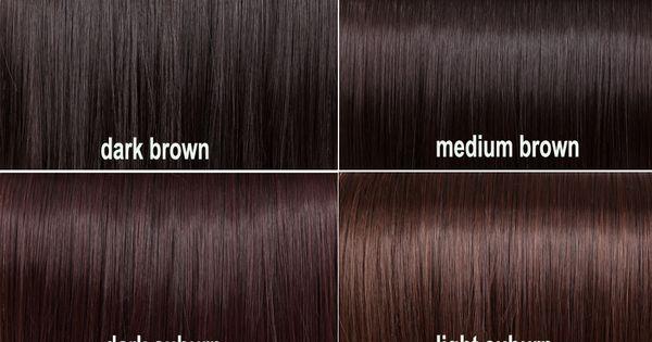 Shades of brown  Hair  Pinterest  Dark auburn, Charts