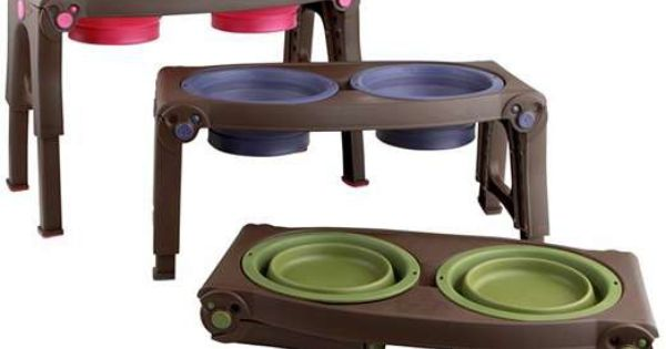 This Innovative Adjustable Collapsible Pet Feeder Is