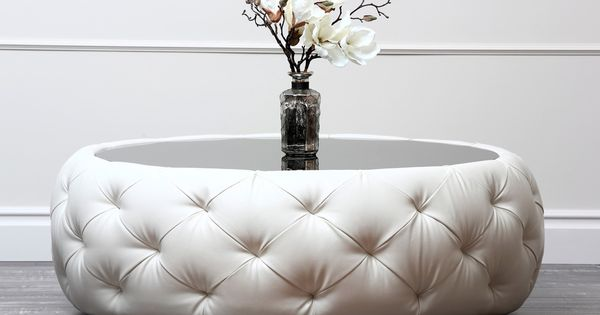 ABBYSON LIVING Havana Round Leather Coffee Table By