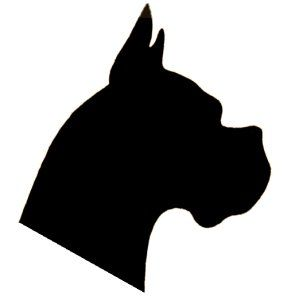 The Munich Silhouette The Original Blueprint For A Good Head Dog Stencil Dog Quilts Animal Silhouette