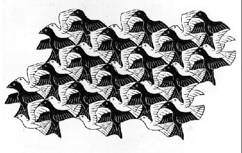 Kleurplaat Paarden Vakantie M C Escher Regelmatige Vlakvulling Met Vogels Birds