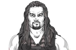 How To Draw Roman Reigns From Wwe Roman Reigns Drawing Roman Reigns Reign