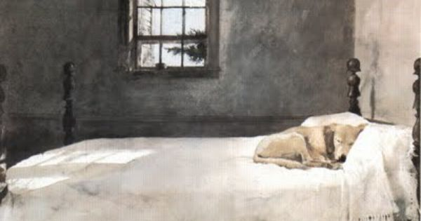 Master Bedroom By Andrew Wyeth Yellow Lab Bed His Master S