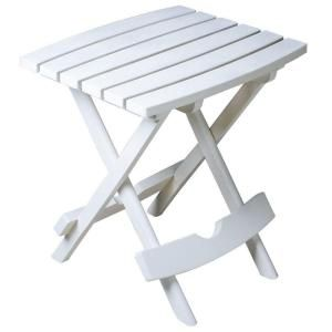 Quik Fold White Patio Side Table Patio Side Table Outdoor Side Table White Side Tables