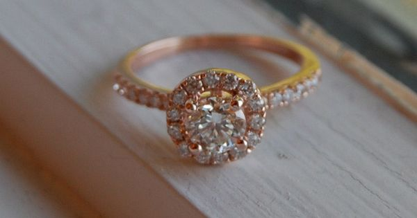 So much sparkle. 0.7ct VS1 Champagne diamond ring 14k rose gold. $3,000.00.