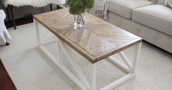 Create a modern farmhouse coffee table with just 2x2s and for Modern farmhouse coffee table