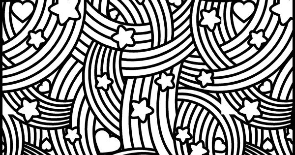 heart and star coloring pages | Star, heart, rainbow design to print and color- available ...