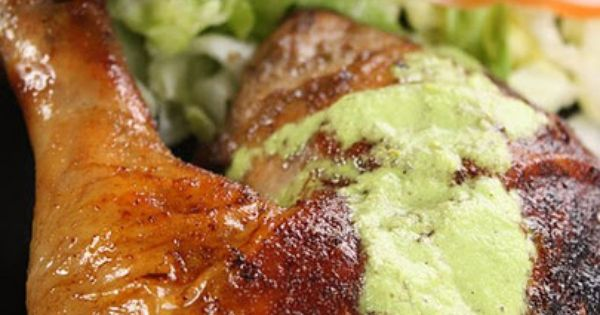 Peruvian Roasted Chicken with Aji Verde | Roasted Chicken, Chicken and ...