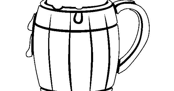 Botella De Cerveza Dibujo: Dibujo De Jarra De Cerveza Para Colorear En Línea