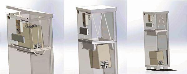 Funktionsprinzip Der Paketbox Paketkasten Briefkasten Paketbriefkasten