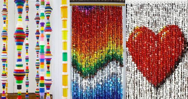 Ideas de cortinas de tapas de botellas de pl stico ideas - Cortinas de plastico ...