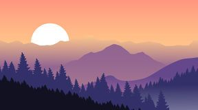 Purple Mountains Background Pink Sky Magical Sunset Vector Illustration 62228558 Jpg 288 160 Landscape Illustration Mountain Paintings Sunset Painting