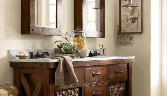 Pottery Barn Style Bathroom Vanity
