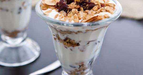Cranberry Almond Granola Parfaits via @Angie McGowan (Eclectic Recipes ...