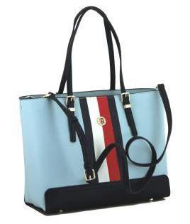 Business Shopper Tommy Hilfiger Honey Tote Hellblau Work Bag Tommy Hilfiger Taschen Taschen Shopper