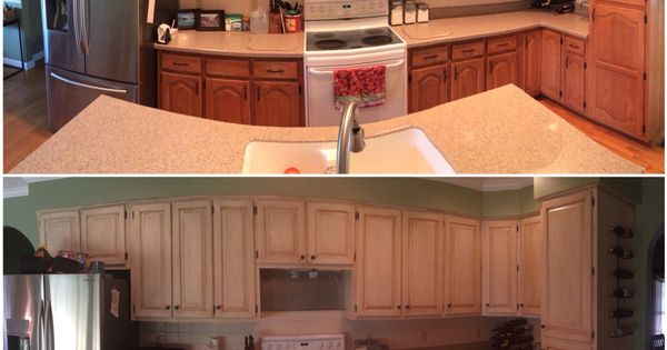 Before and after - Rustoleum Cabinet Transformation - Pure ...