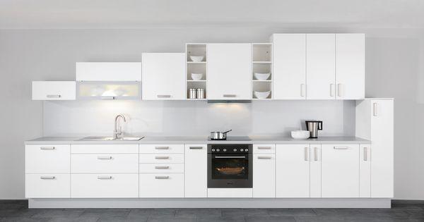 Cuisine lin aire blanc for Cuisine lineaire 4 metres
