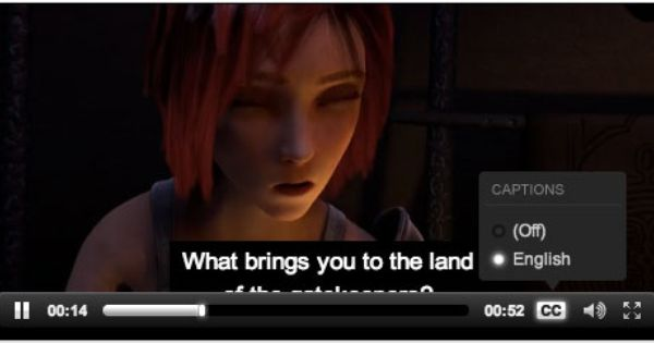 Adding Video Captions Jw Player With The Cc Menu Visible Video Caption Captions Ads