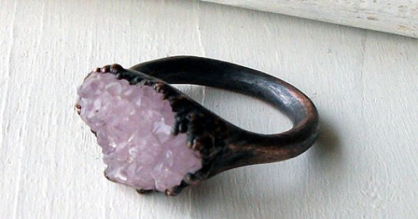 Pale Lavender Amethyst & Copper Artisan Ring....would go fantastically with my other