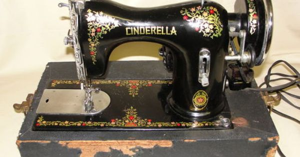 Beautiful Rare Cinderella Sewing Machine In Original Case