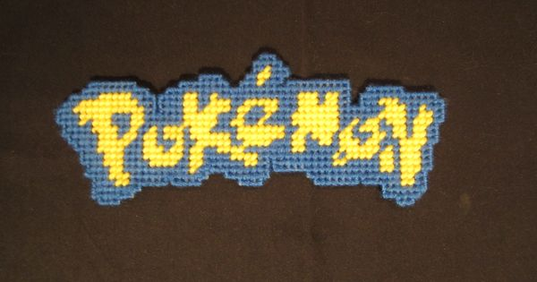 Pokemon Logo Bookmark Made From Plastic Canvas By Robert