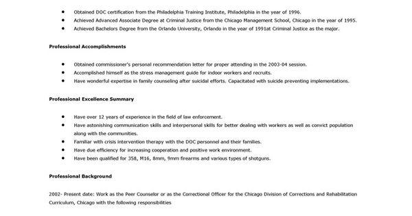 detention officer resume examples http www