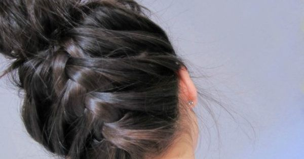 I did this French braid on my daughter. We braided the back,
