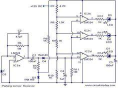 parking circuit wiring diagram parking sensor circuit electronic circuits and diagram  parking sensor circuit electronic