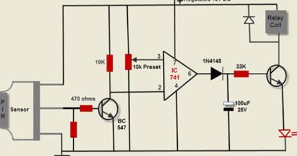 Passive Infrared Sensor Pir Working With Applications Passive Infrared Sensor Sensor Basic Electronic Circuits