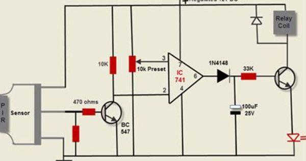 Pir Motion Detector Circuit Motion Detector Circuit Diagram Detector