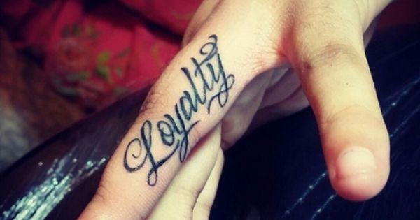 'LOYALTY' Tattoo. wedding band. | Me want INK. | Pinterest ...