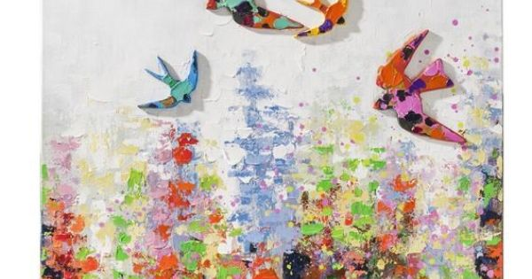 D coration murale miroir et horloge couleurs for Decoration murale fly