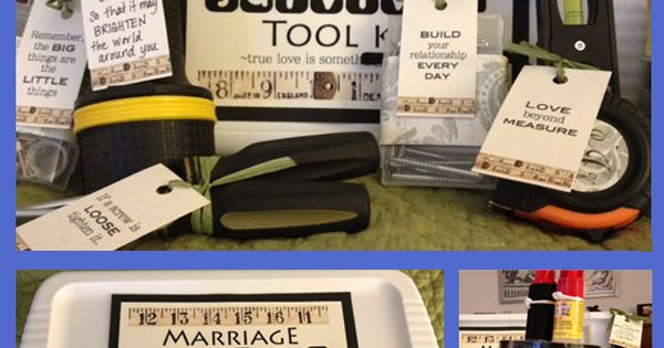 Adorable Marriage Survival Tool Kit. Great Bridal shower gift.