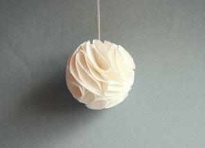 5 boules de Noël en papier faciles à faire soi même | Décor de