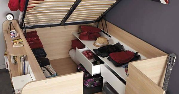 bedroom. bed with incredible storage. | bedroom inspiration