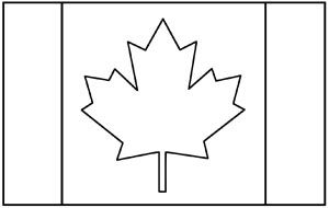 Canada Flag Coloring Page Flag Coloring Pages Flag Printable