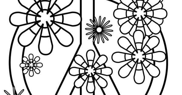 Coloring Pages Of Peace Signs