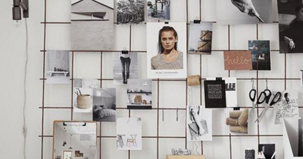 grillage pour accrocher photos contre mur d co. Black Bedroom Furniture Sets. Home Design Ideas