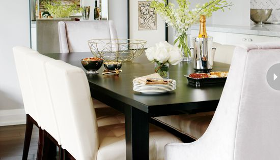 Style at Home - dining rooms - dining room, chic dining room,