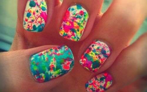 easy nail designs for short nails or kids without tools - Nail